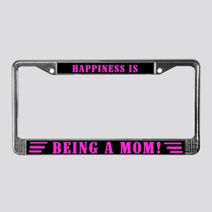 Happy Mom License Plate Frame